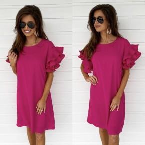 Pink Promises Pleated Sleeve Dress