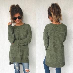 Poppy Popcorn Sweater- Olive