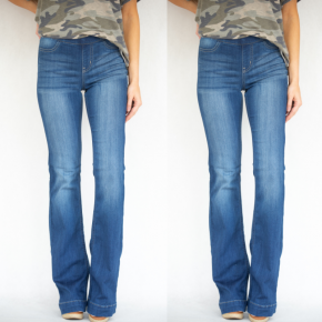High Rise Denim Flare Jeans