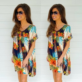 All For The Print Navy Dress