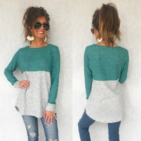 Jade & Silver Color Block Sweater