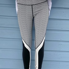 Black & White Color Block Leggings