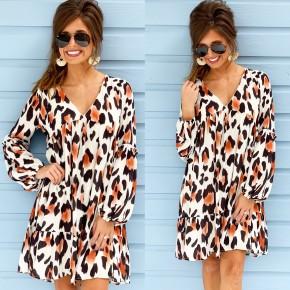 All Over Animal Print Dress