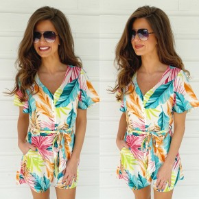 It's Vacay Time Floral Romper