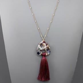 Confetti Acrylic & Tassel Necklace