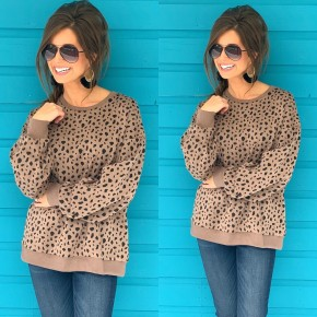 Give You My All Mocha Spotted Sweater