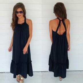 Olivia Black Midi Dress