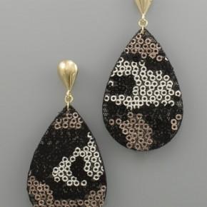 Sequin Teardrop Earrings