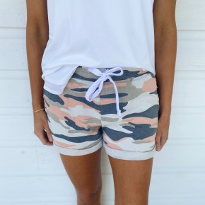 Cute & Casual Shorts- Pink Camo