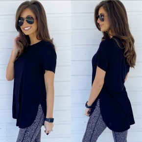 Lucy Short Sleeve Top- Black