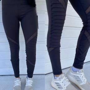 Grey Athletic Moto Leggings