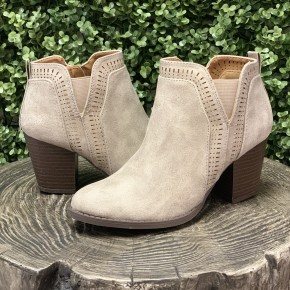 Stone Booties With Cut Out Detail *Final Sale*