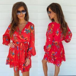 Floral Fantasy Dress- Red
