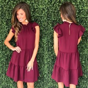 Better Together Dress- Burgundy