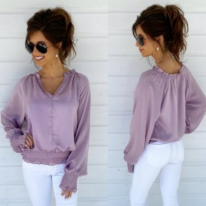 Fields Of Lavender Satin Top