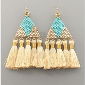 Tiffany Turquoise Triangle Earrings