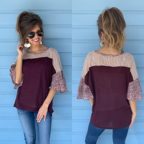 Plum Perfection Waffle Top