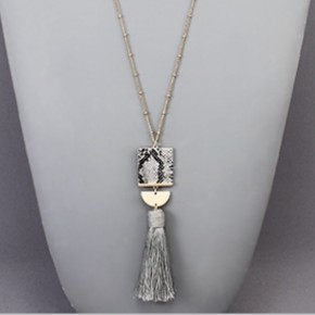 Granite Tassel Necklace