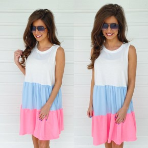 Sweet As Can Be Color Block Dress