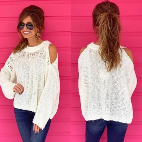 Right This Way Cream Sweater