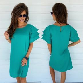 Ruffled Up Dress- Green