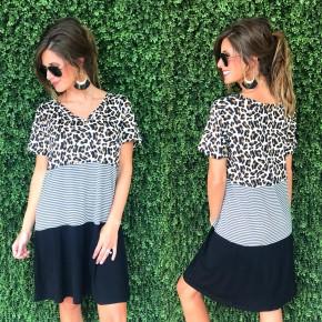 Cheetah & Striped Color Block Combo