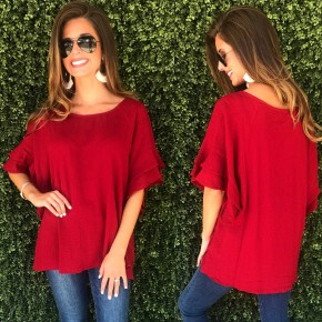 Jester Red Texture Top