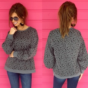 Give You My All Grey Spotted Sweater