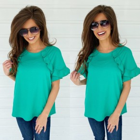 Keep You Guessing Green Top
