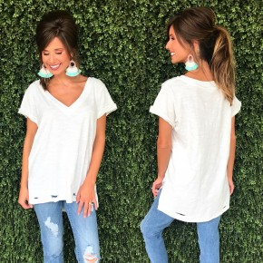 Off White Cut Out Top