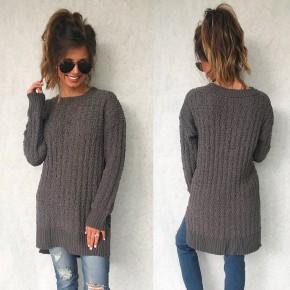 Poppy Popcorn Sweater- Grey