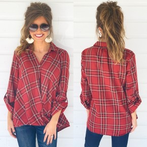 It's Up To You Plaid Top