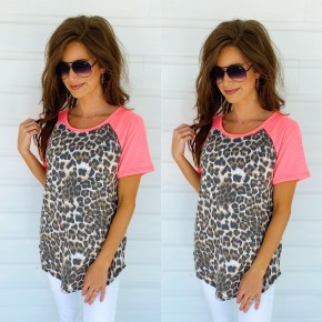 Neon Pink & Leopard Top