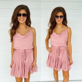 Blush Cinched Waist Dress