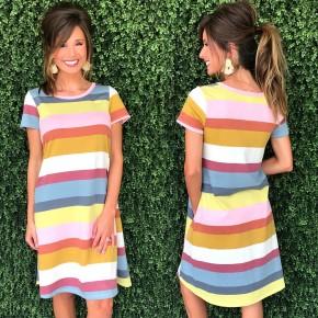 FINAL SALE/Marsala & Mustard Combo Dress