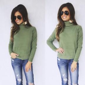 Light Olive Turtle Neck Sweater