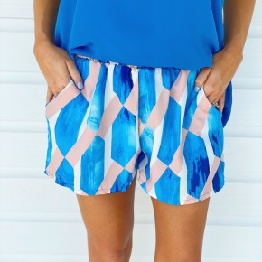 Pink & Blue Kaleidoscope Shorts
