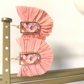 Sweet As Candy Coral Earrings