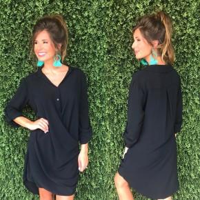 Juliette Crossbody Dress- Black