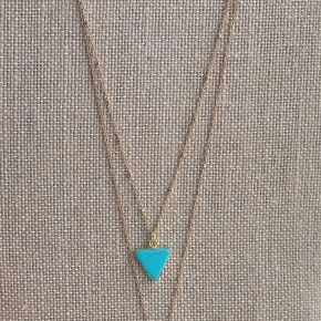 Turquoise Triangle Necklace *Final Sale*