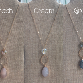 Stone and Circle Necklace