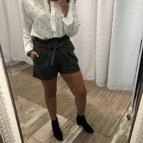 Faux Leather High Waisted Shorts *Final Sale*