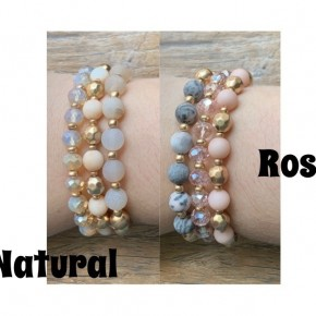 Stone Multi Bead Row Bracelet *Final Sale*
