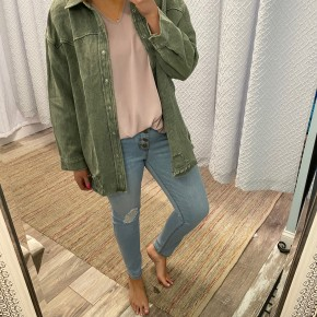 Brenna Distressed Jacket