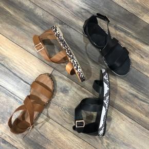 Animal Print Sandals-Final Sale