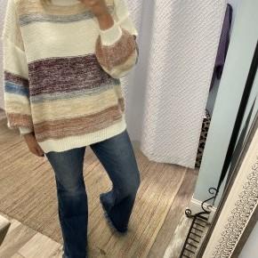 Boat Neck Multi Color Sweater *Final Sale*
