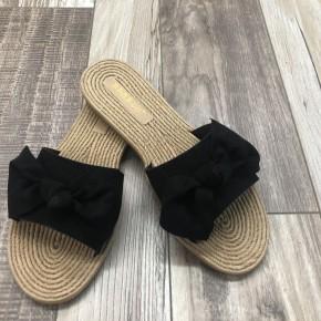 Black Bow Sandals-Final Sale *Final Sale*