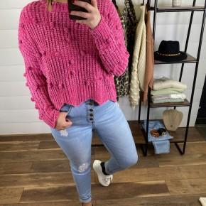 Bright Pink Pom Pom Sweater *Final Sale*