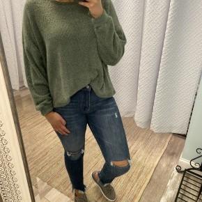 Fluffy Crewneck Sweater Olive *Final Sale*