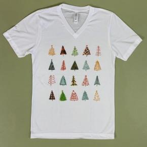 Pattern Tree V-Neck *Final Sale*